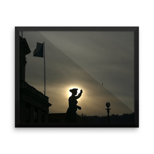 Freedom - Framed photo paper poster that will remind you of Jeanne d'Arc - Art Beauty Fashion