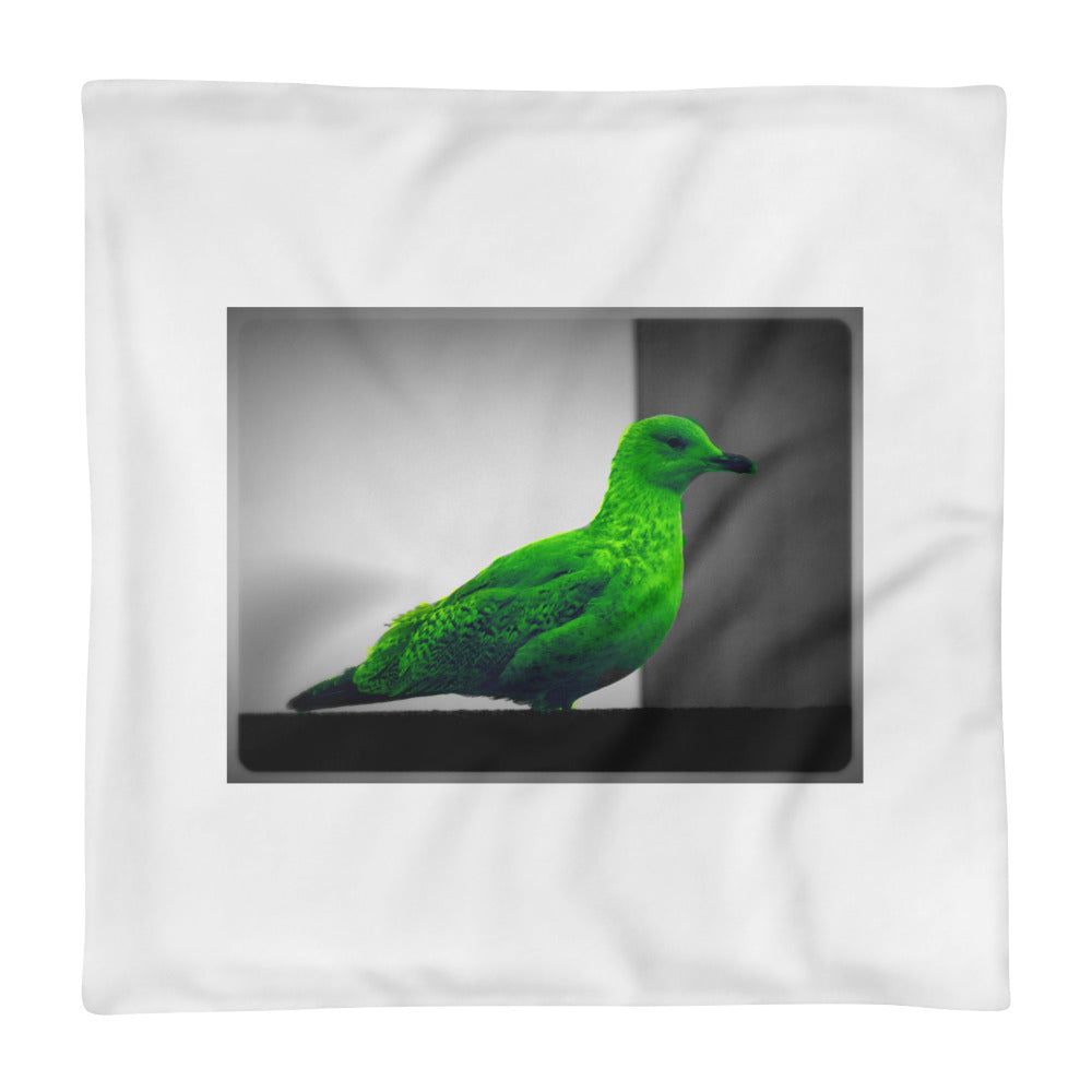 Green Seagull - Square Pillow Case only - Art Beauty Fashion