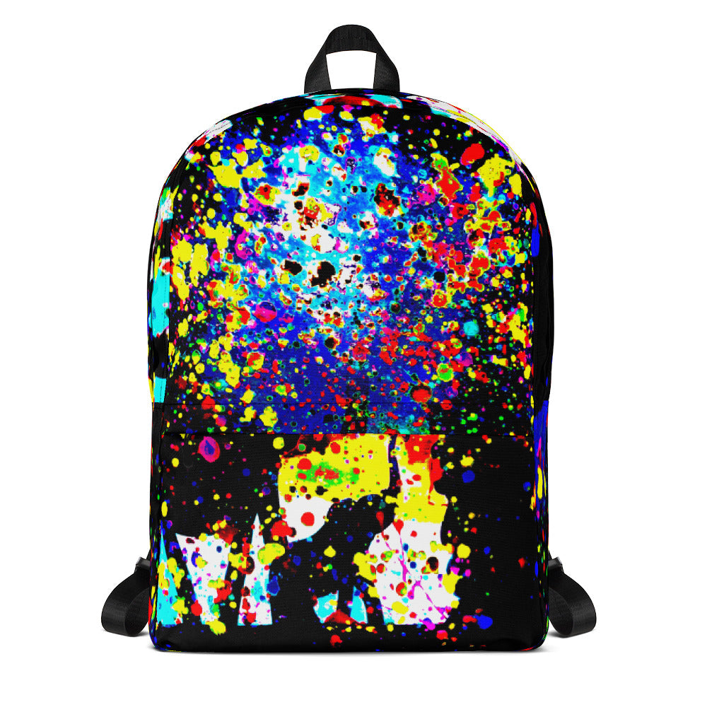 Coloured Backpack with Elephants - Art Beauty Fashion