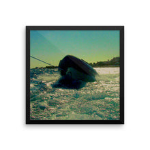 Egyptian - Boat splash in the red sea Wall Art - Framed photo poster - Art Beauty Fashion
