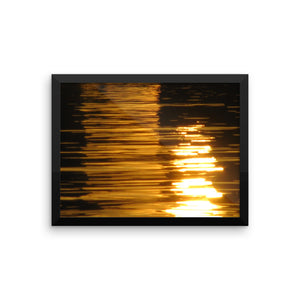 Water Reflections Style Study - Framed photo paper poster - Art Beauty Fashion