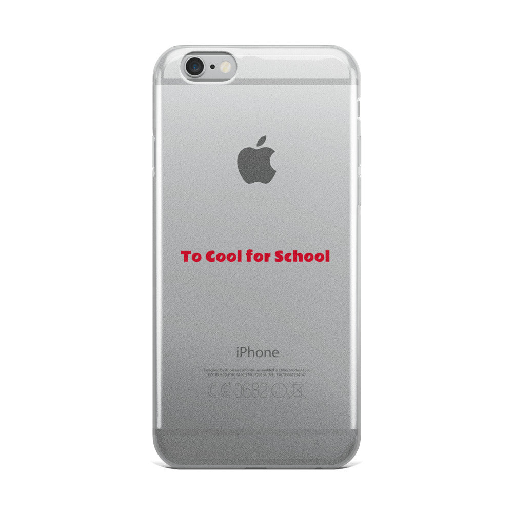 To Cool for School - iPhone Case - Art Beauty Fashion
