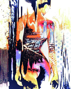 Naked Woman In Colour - Art Print - Art Beauty Fashion