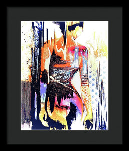 Naked Woman In Colour - Framed Print - Art Beauty Fashion