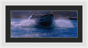 Ocean Boat Study - Framed Print - Art Beauty Fashion