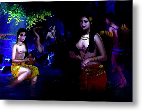 Oriental Girls Bath  - Metal Print - Artphotography - NEW