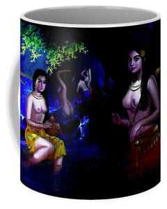 Oriental Girls Bath  - Mug - Artphotography - NEW