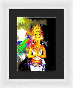Praying Woman - Framed Print - Art Beauty Fashion