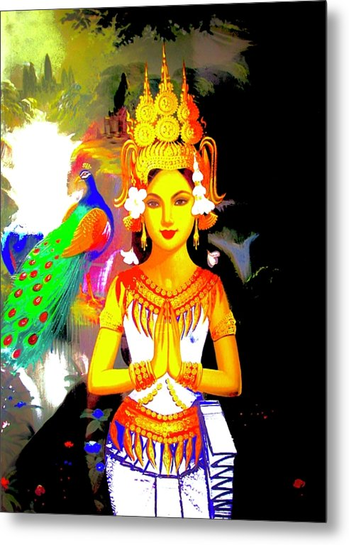 Praying Woman - Metal Print - Art Beauty Fashion