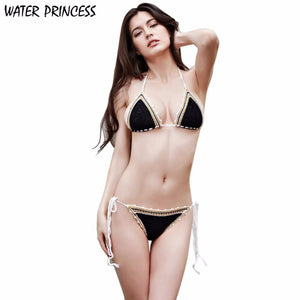 WATER PRINCESS 2017 Women Ladies Handmade Crochet Beach Swimsuit Knitted Bikini Set Swimwear tankini HL1079 - Artphotography - NEW