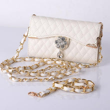 Handbags Bling Wristlet Handbag Luxury Solid Hasp Bag Leather Wallet Flip Cover Diamond Case Bags sacoche homme - Art Beauty Fashion