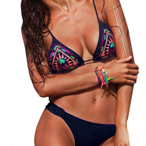Sexy Swimwear Women Bikini Set Bandage Push-Up Bathing Beachwear With Thin Pad Moda Praia Feminina XL - Art Beauty Fashion