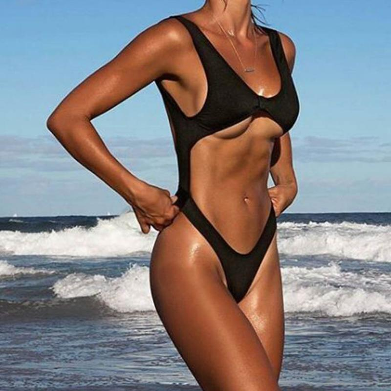 Sexy Bikinis Women Hollow Wireless Swimsuit One Piece Backless Slim Bikini Swimwear Swimsuit Push Up Bathing Suits Swimwear New - Art Beauty Fashion