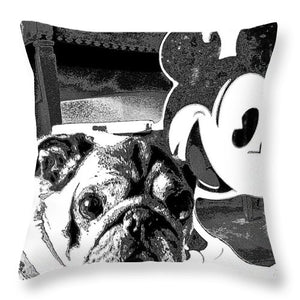 Pug And Mickey Mouse - Throw Pillow - Art Beauty Fashion