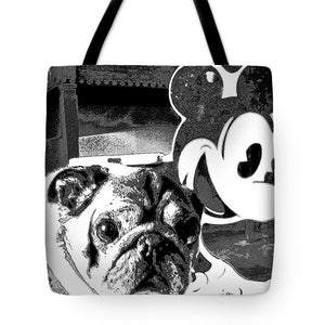 Pug And Mickey Mouse - Tote Bag - Art Beauty Fashion