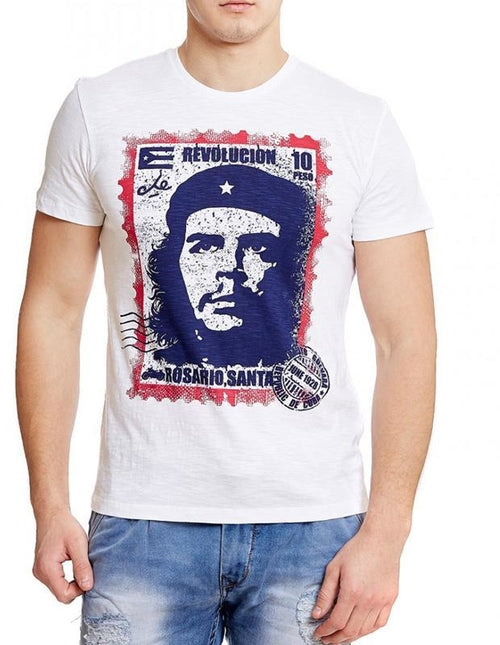 Che Guevara Revolucion White Half Sleeve Men - Art Beauty Fashion