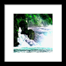 Rhine Waterfall Study - Framed Print - Art Beauty Fashion