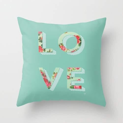 Floral Love Cushion/Pillow - Art Beauty Fashion