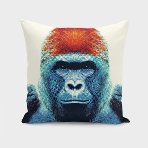 Gorilla - Colorful Animals  Cushion/Pillow - Art Beauty Fashion