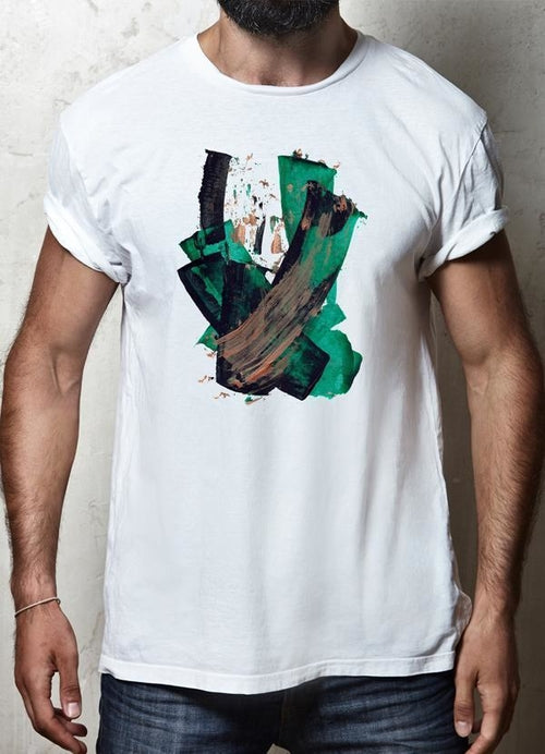 BRUSH STROKE WHITE T-SHIRT - Art Beauty Fashion