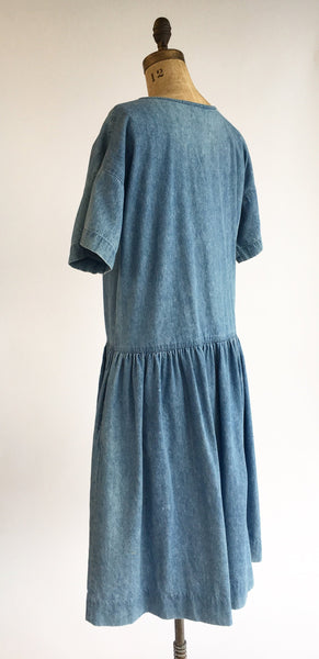 1980's Denim Dropwaist Dress