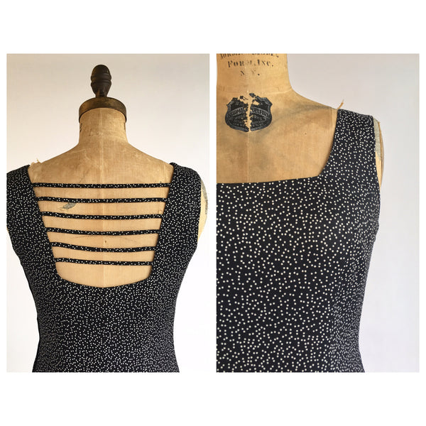 1990's Bodycon Polka Dot Dress