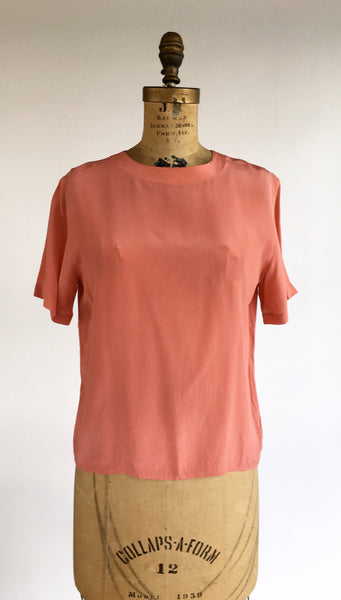 1990's Rose Silk T-Shirt