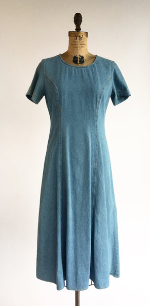 1990's Minimal Denim Dress