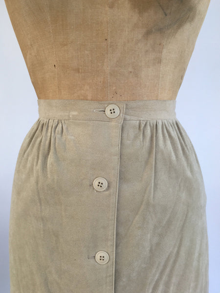 1970's Ultrasuede Midi Skirt