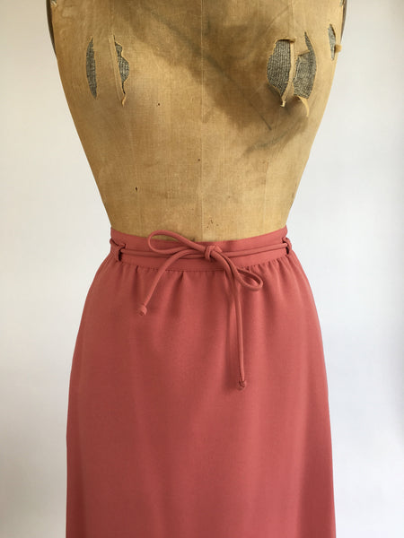 1970's Dusty Rose A-line Skirt