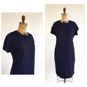 1990's Navy Sack Dress
