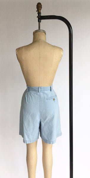 1990's Light Wash Chambray Shorts