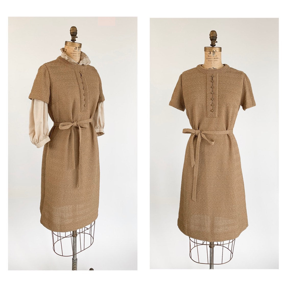 1960's Mod Boucle A-line Dress