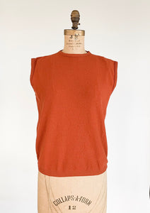 1960's Burnt Orange Sleeveless Top