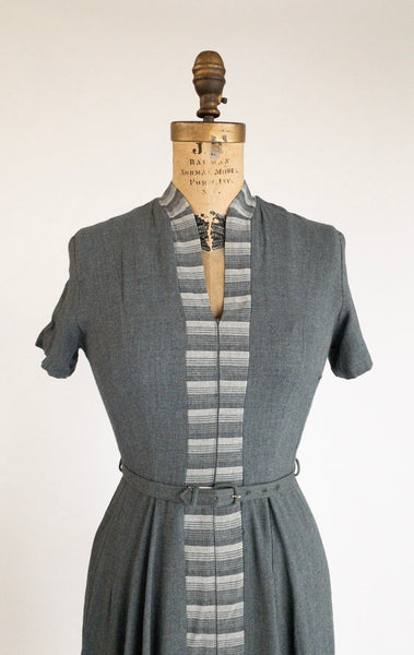 1960's Fit and Flare Grey Dress