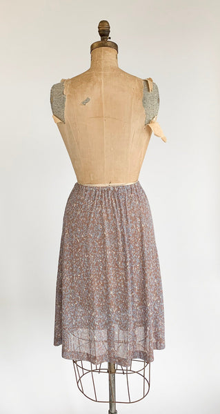 1970's Sheer Floral Skirt/Slip
