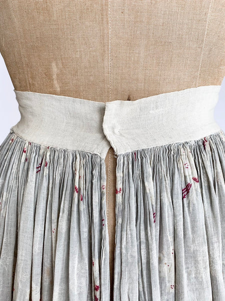 Edwardian Rose Print Cotton Voile Maxi Skirt