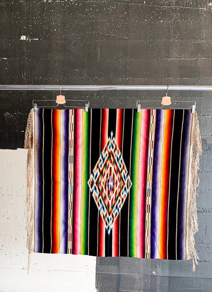 1940's Mexican Wool Saltillo Lap Blanket
