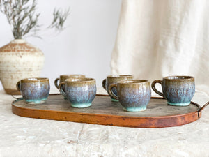 Set of 6 1970's Ceramic Espresso Mugs