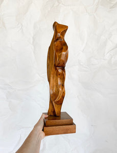 Mid Century Abstract Wooden Sculpture