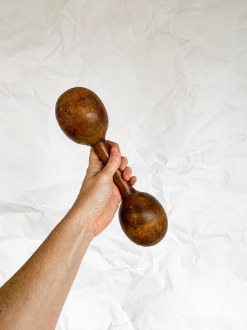 1930's Wooden Dumbbell