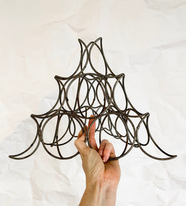 Mid Century Wire Pyramid Sculpture