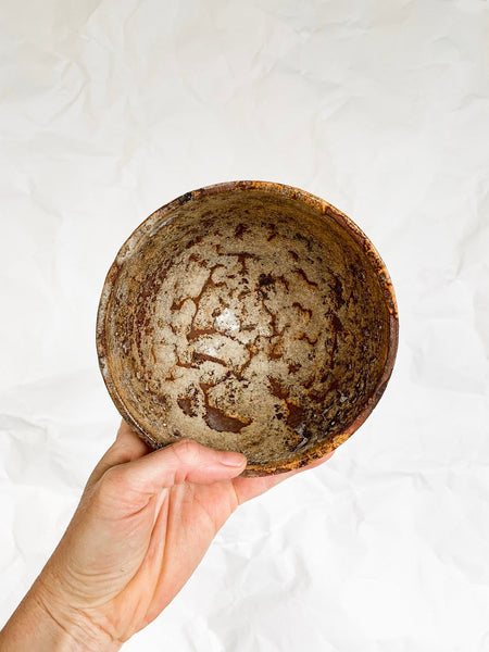 Small Drip and Crackle Glazed Bowl