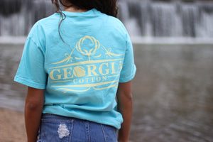 Light Blue Georgia Cotton Original Pocket Tee