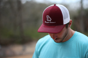 Burgundy Georgia Cotton hat