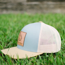 Georgia Cotton Apparel Trucker Hat with Leather patch