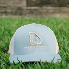 Georgia Cotton Apparel Trucker Hat in Baby Blue and Khaki