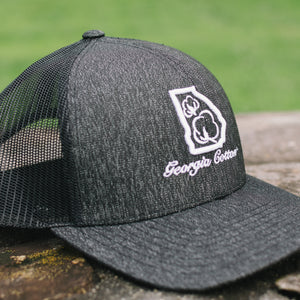 Georgia Cotton Apparel Trucker Hat in Heather Black