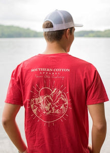 Southern Cotton Apparel Never Stop Exploring Tee in Red