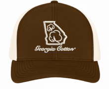 Georgia Cotton Trucker Hat in Brown and Khaki